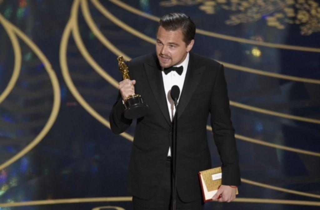"""Leonardo DiCaprio hat den Oscar für """"The Revenant"""" gewonnen. Wer außerdem ausgezeichnet wurde, erfahren Sie in unserer Fotostrecke. Foto: AP"""