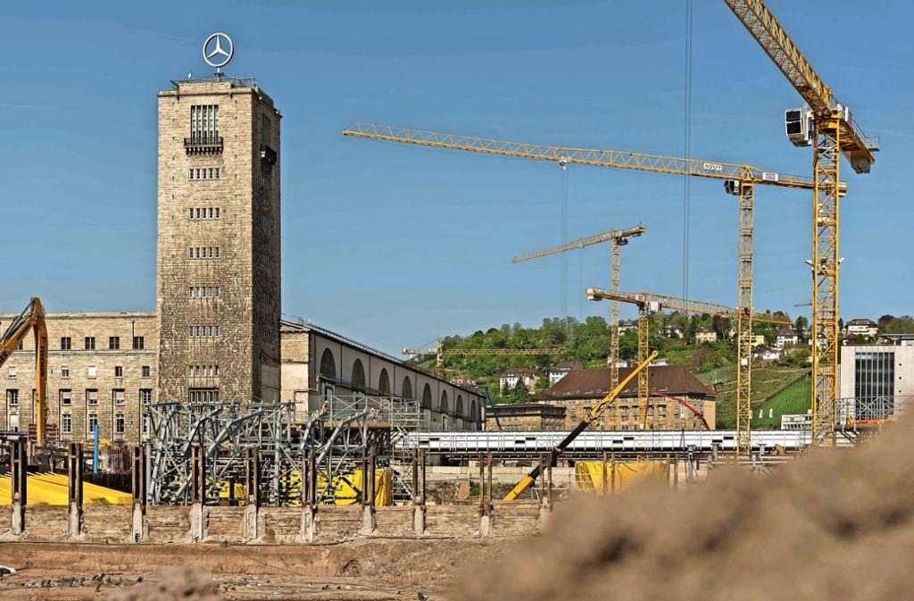Die S-21-Baustelle am Stuttgarter Hauptbahnhof. Foto: Lichtgut/Max Kovalenko