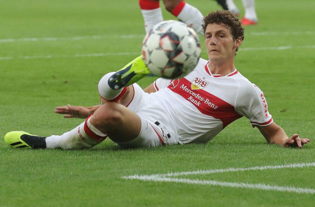 Benjamin Pavard und der VfB Stuttgart wollen nach der Länderspielpause in der Liga endlich punkten. Foto: Bongarts