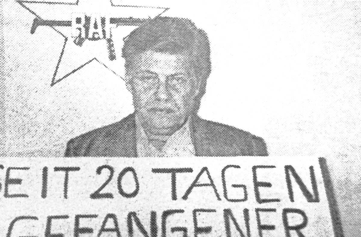 Die RAF hat   1977  den Arbeitgeber-Präsidenten  Hanns Martin Schleyer entführt und später ermordet, um die  inhaftierten Terroristen freizupressen. Foto: dpa