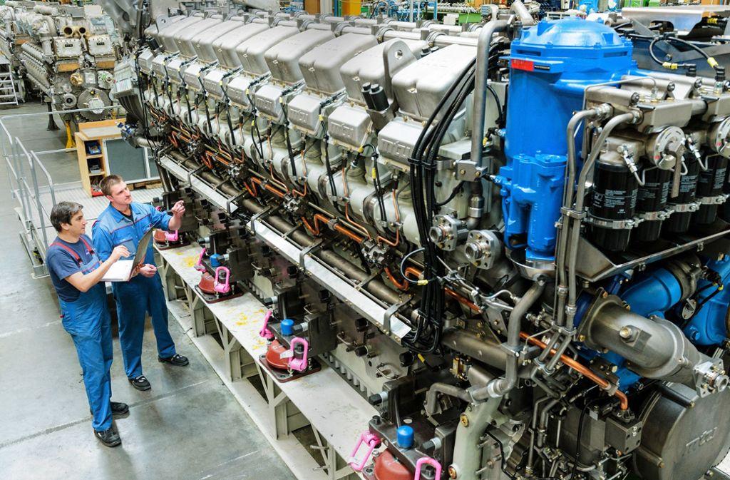MTU produziert  Schiffsmotoren am Bodensee. Foto: MTU