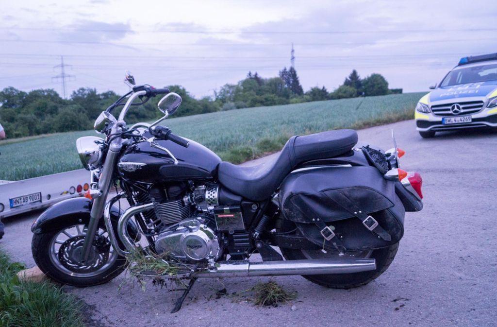 Ein Motorradfahrer ist bei einem Unfall in Löchgau (Landkreis Ludwigsburg) schwer verletzt worden. Foto: 7aktuell.de/ Hessenauer