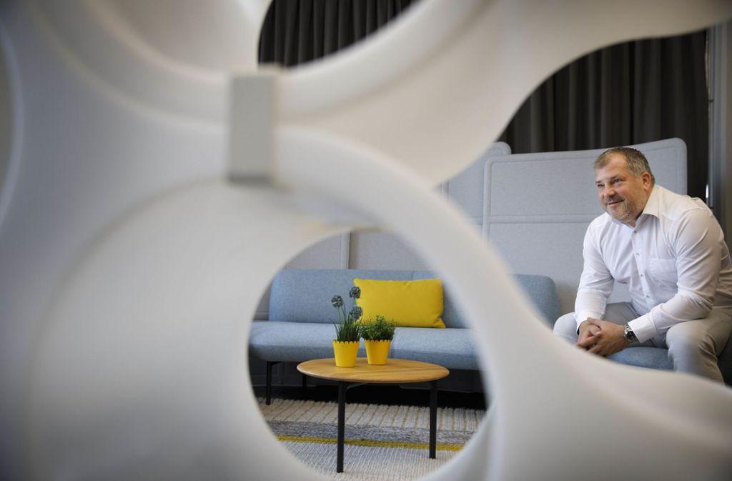 Rolf Gerlach plant Arbeitswelten. Foto: Gottfried Stoppel