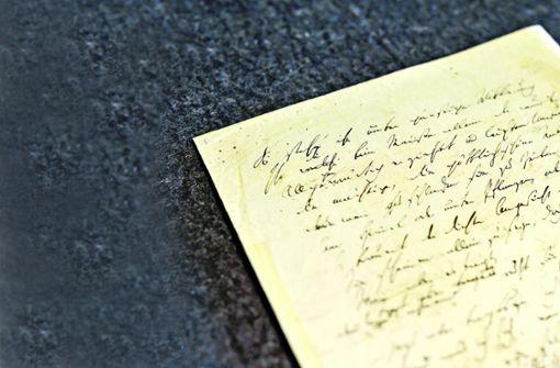 Wo Hölderlins Schriften ruhen