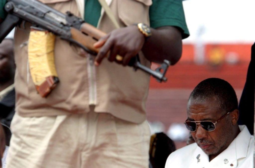 Charles Taylor erwartet eine lange Haftstrafe in einem britischen Gefängn Foto: dpa