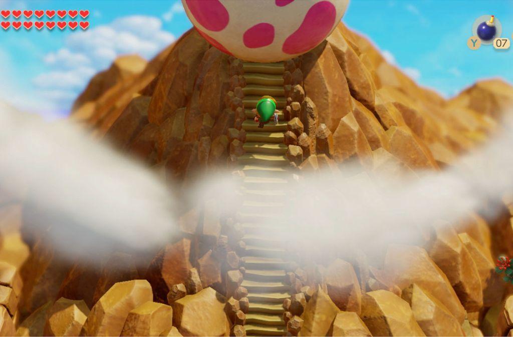 Held Link findet sich nach seinem Schiffbruch auf der Insel Cocolint wieder. Um zurück nach Hause zu gelangen, muss er zuerst den Windfisch aufwecken. Foto: Nintendo