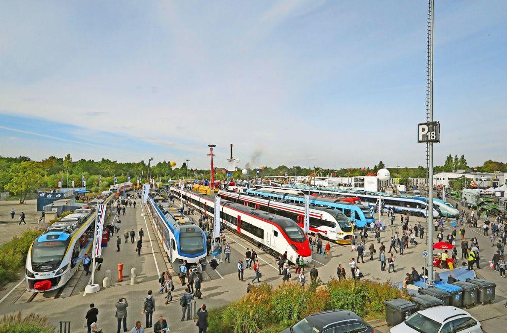 146 Weltpremieren  rund um Züge  und S-Bahnen sind auf der  Innotrans zu sehen. Foto: Messe