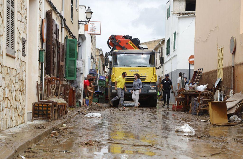 Zwölf Menschen sind bei dem Unwetter auf Mallorca ums Leben gekommen – darunter zwei Deutsche. Foto: dpa