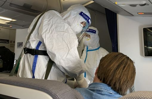 Deutscher Passagier bei  Rückflug nach China infiziert