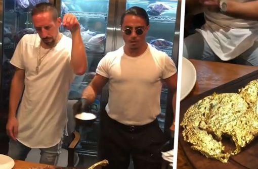 Franck Ribéry sorgt mit Gold-Steak für Aufsehen