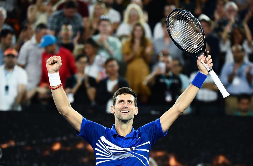 Novak Djokovic hatte im Halbfinale keine Probleme. Foto: AFP