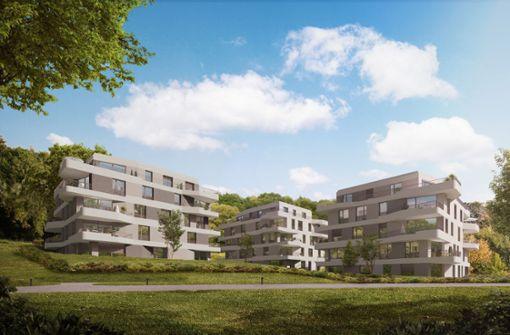 Am Park der Villa Berg wird gebaut