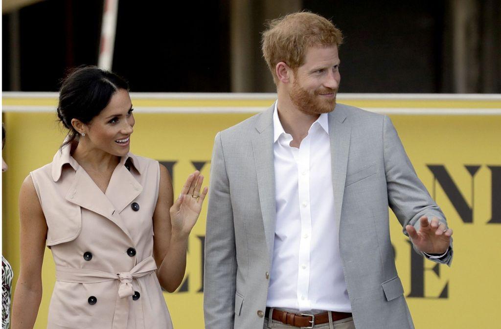 Herzogin Meghan und Prinz Harry in London. Foto: AP