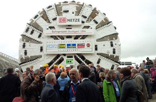 Die Tunnelbohrmaschine wartet auf ihren Einsatz. Foto: 7aktuell.de/Eyb