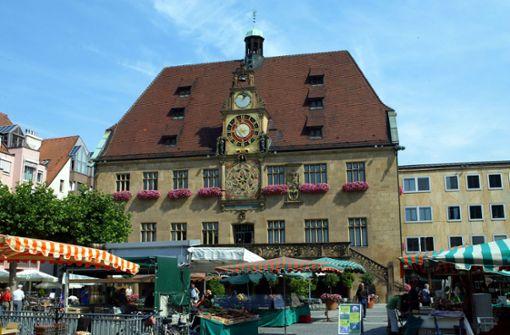 Auch das Rathaus in Heilbronn ist betroffen