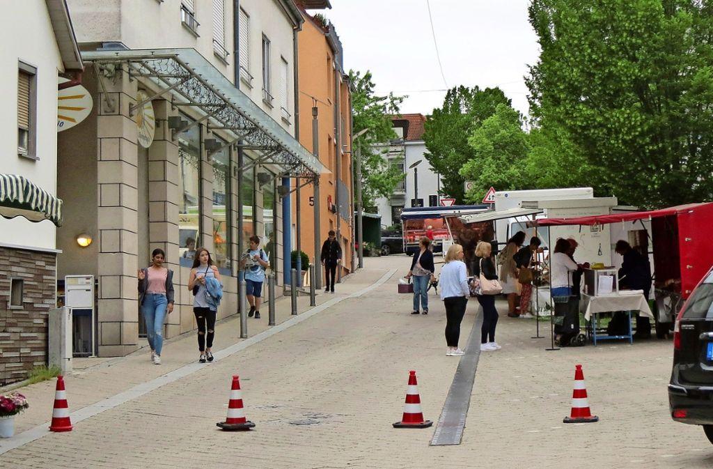Beim Markttag gibt es keine Probleme. Dann ist die Marktstraße gesperrt. Foto: Häusser