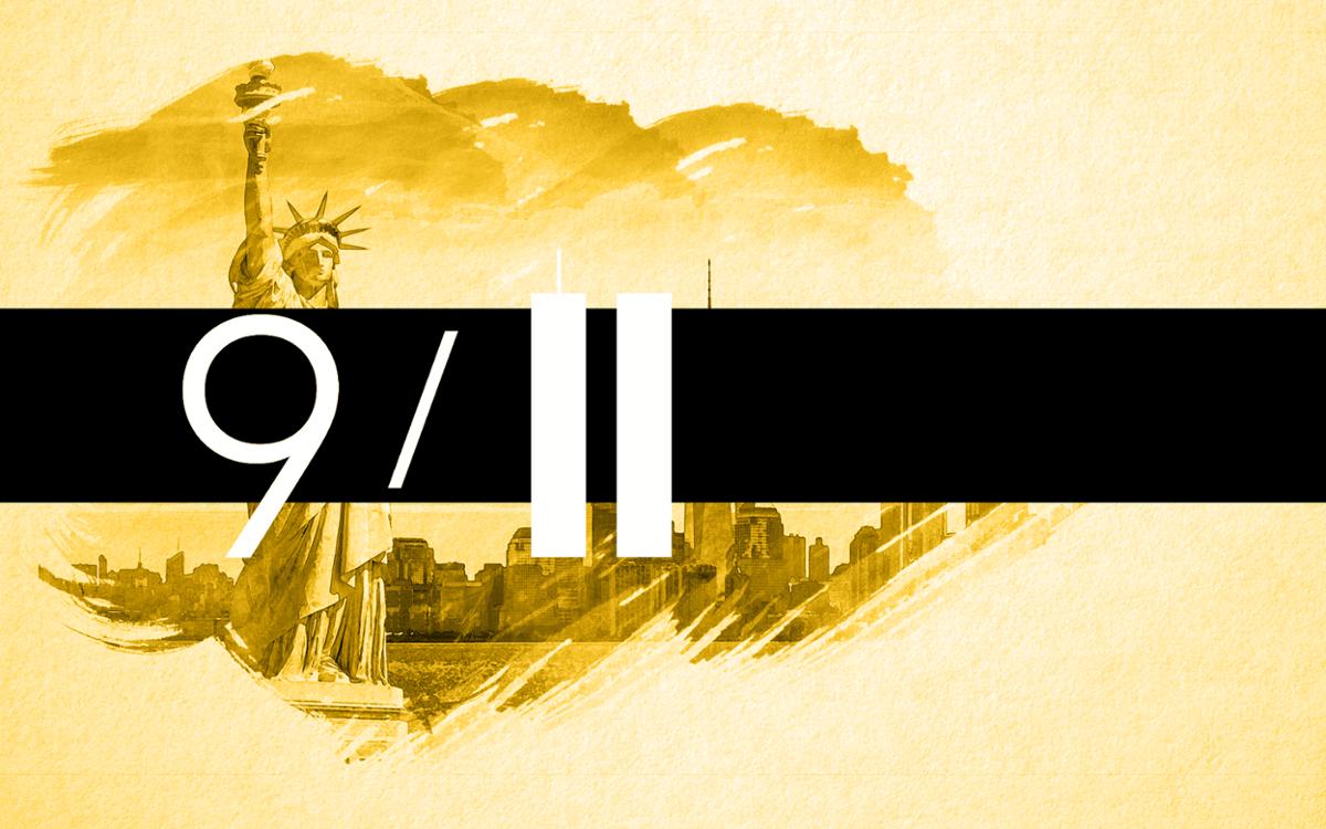 Mit 2996 Toten gelten die Attentate vom 11. September 2001 als folgenreichster terroristischer Anschlag der Geschichte.  Foto: Eigene Grafik mit Material von shutterstock / spyarm
