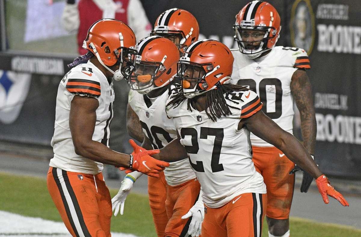 Großer Jubel bei den Cleveland Browns Foto: dpa/Don Wright