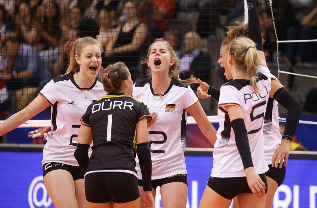 Die Stuttgarterin Pia Kästner (Nummer 2) ist wichtiger Teil des deutschen Teams. Foto: Baumann