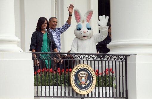 Letztes Ostereierrollen mit den Obamas