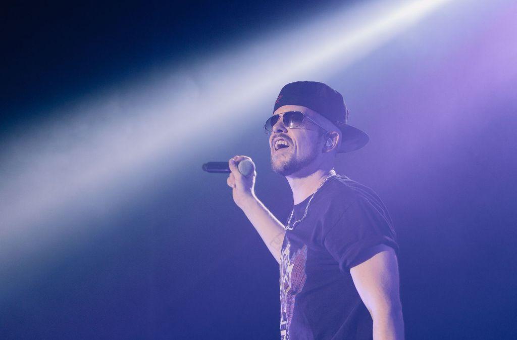 Jan Delay auf der Bühne in der Stuttgarter Schleyerhalle. Foto: Lichtgut/Verena Ecker
