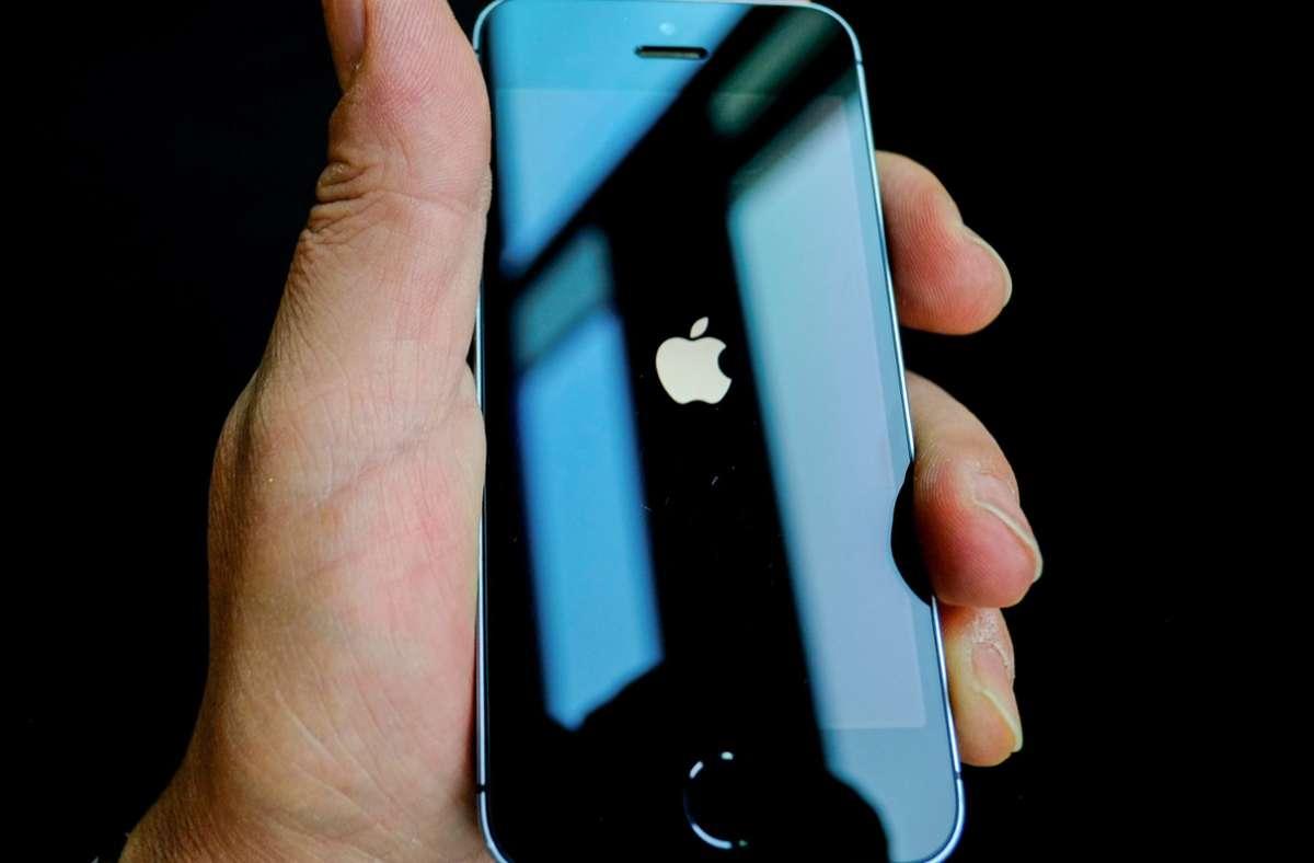 Das iPhone von Apple ist ein Kassenschlager. Foto: dpa/Stefan Jaitner