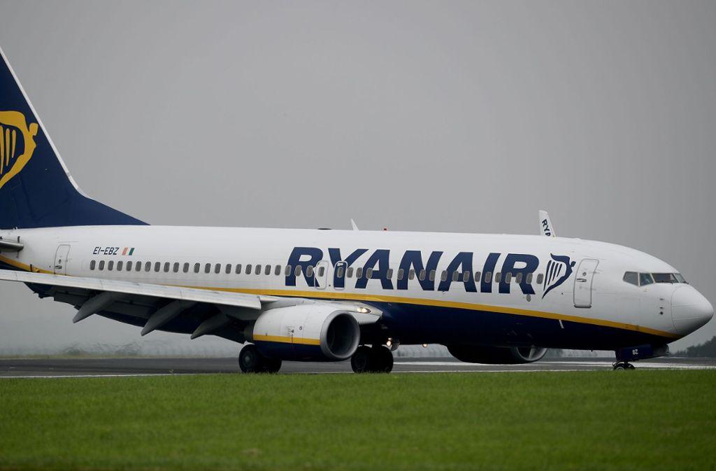 Ein Ferienflieger von Ryanair musste in Frankfurt-Hahn landen (Symbolbild). Foto: PA Wire