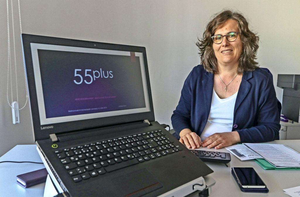 """Andrea Kühn will die Generation """"55 plus"""" besser vernetzen. Für sie gibt es ihrer Meinung nach zu wenige Angebote. Foto: factum/Granville"""