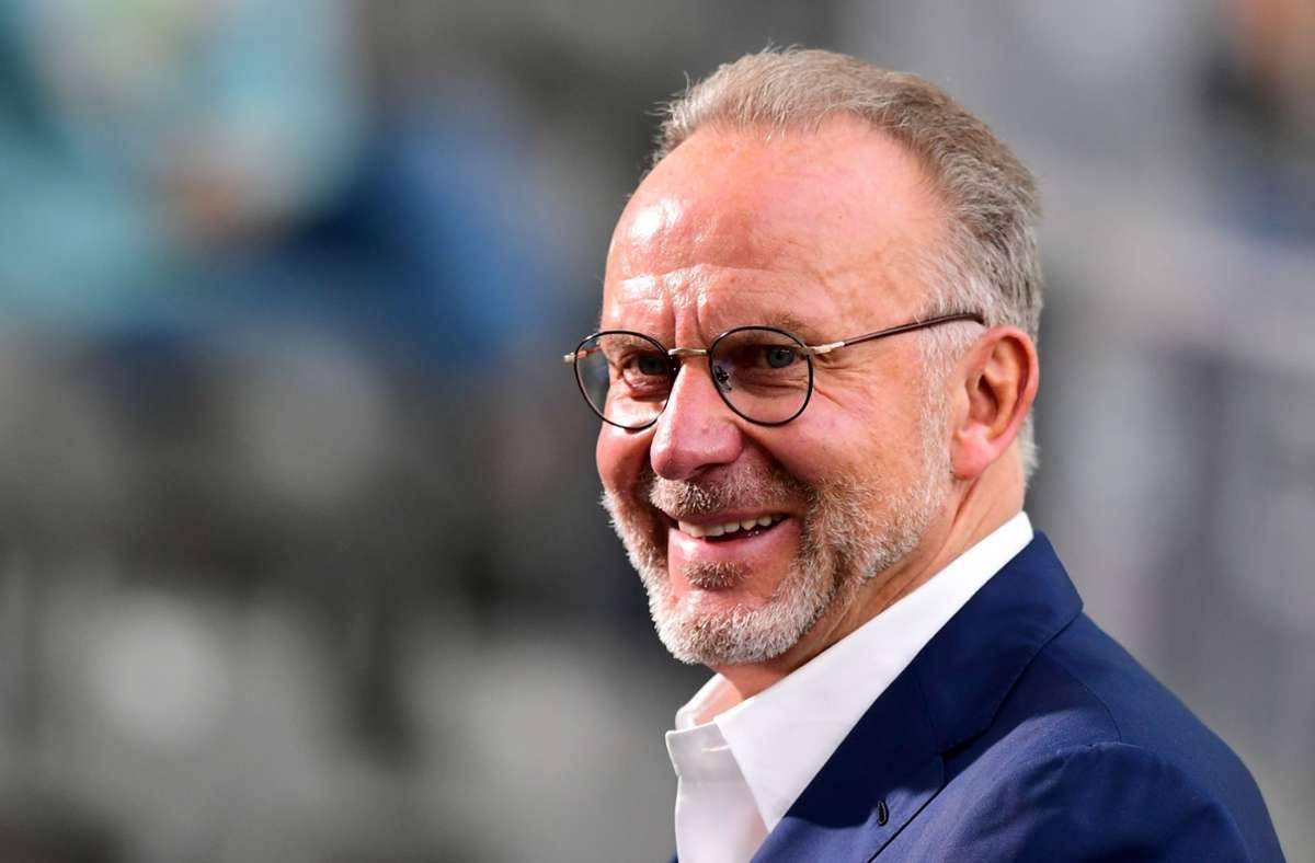 Karl-Heinz Rummenigge hat einem altenVorurteil gegen den deutschen Fußball-Rekordmeister widersprochen. Foto: AFP/ROBERT MICHAEL