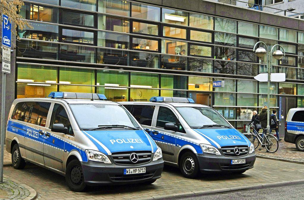 Das  erste Polizeirevier auf der Zeil in Frankfurt Foto: dpa