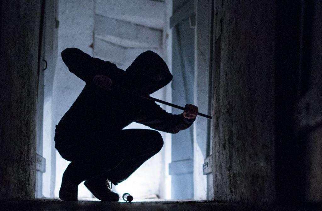 Der Einbrecher hat ein Fenster aufgehebelt. Foto: dpa/Silas Stein