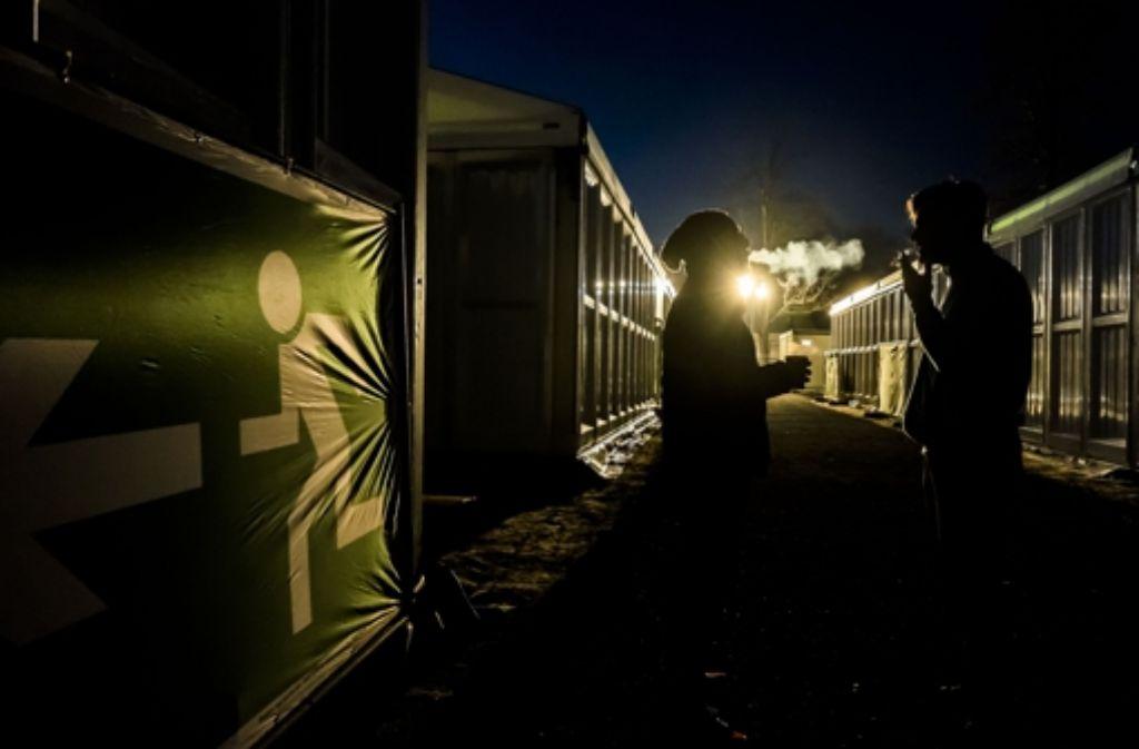 Anders als bei der ersten Belegung im November sind in der Zeltstadt heute ausschließlich Afrikaner untergebracht. Foto: Lichtgut/Max Kovalenko