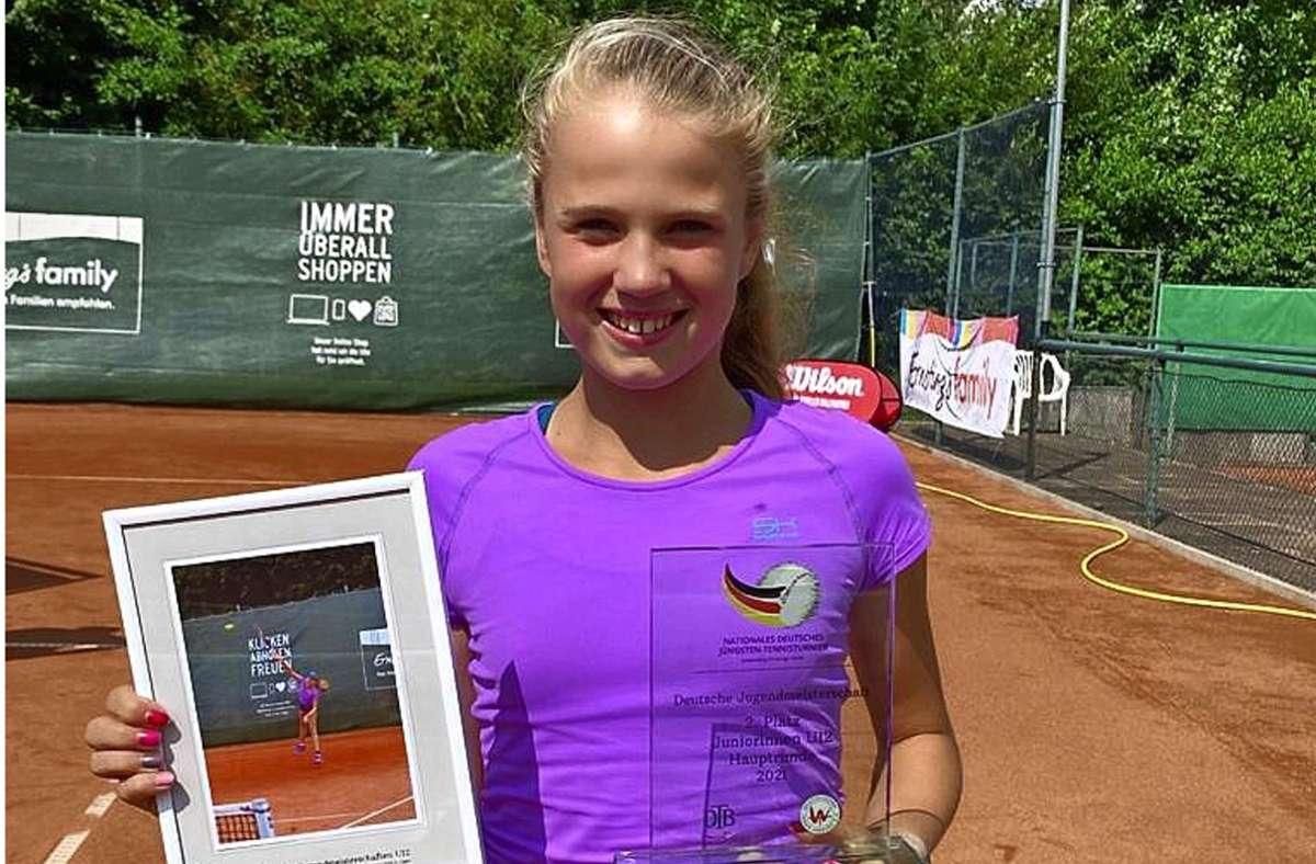 Mariella Thamm freut sich über ihren zweiten Platz. Foto: TEC Waldau/cf/TEC Waldau/z
