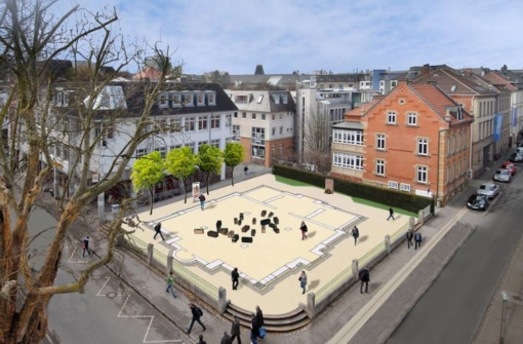 So soll der neu gestaltet Synagogenplatz in Ludwigsburg bald aussehen. Foto: privat