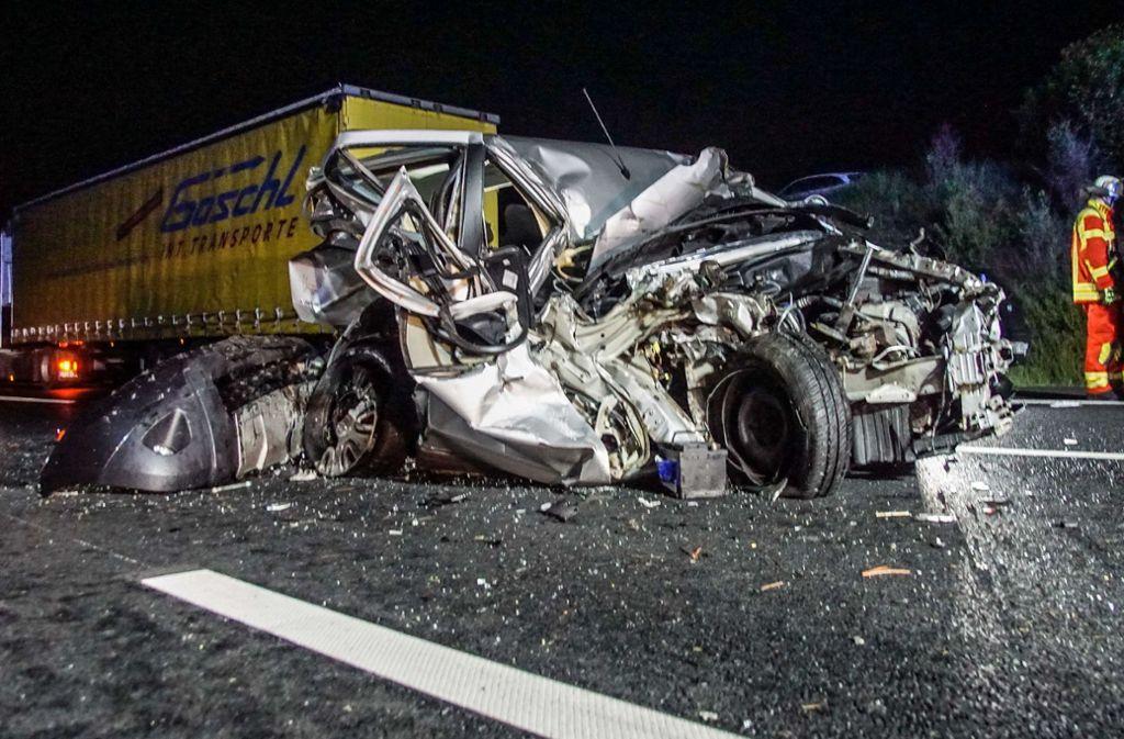 Der Unfall ereignete sich am 10. Mai zwischen Leonberg und Rutesheim auf der A8. Foto: SDMG/SDMG / Dettenmeyer