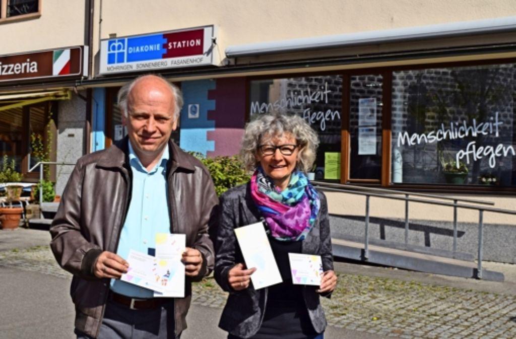 Der Pfarrer Ernst-Martin Lieb und die Diakonin Birgit Keyerleber haben schon viel Arbeit in ihr neues Projekt investiert Foto: Alexandra Kratz