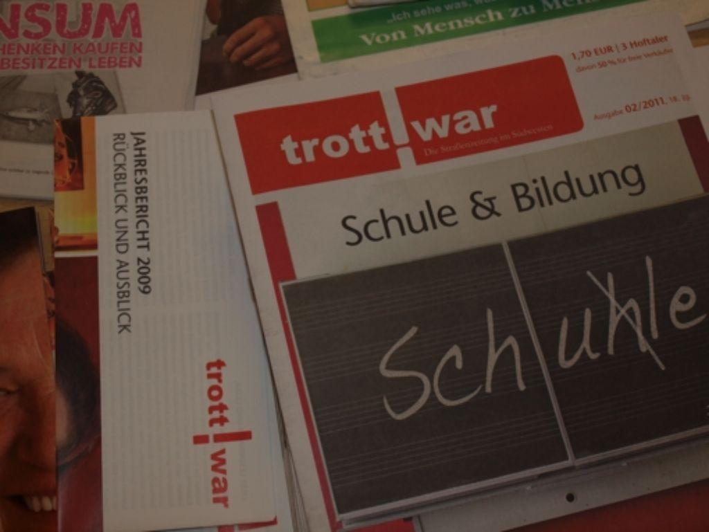 """Dem Straßenmagazin """"Trottwar"""" bleibt Konkurrenz aus Berlin vorerst erspart Foto: Cedric Rehman"""