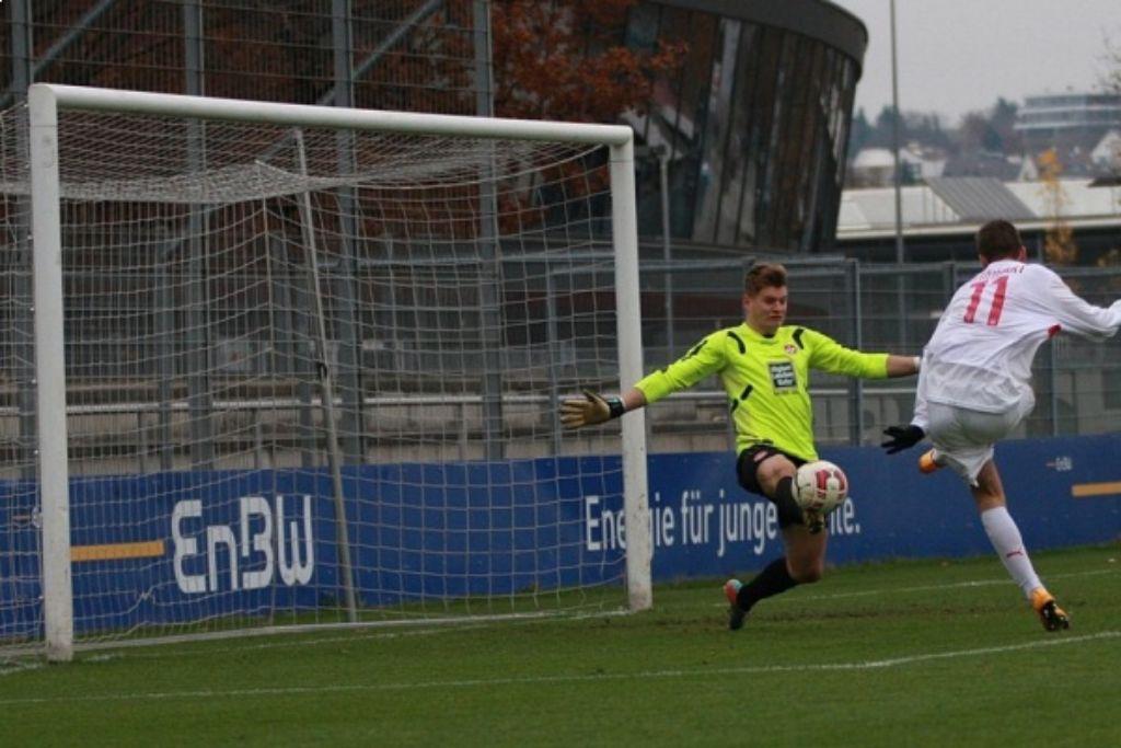 Die A-Junioren des VfB Stuttgart haben am Sonntag gegen Kaiserslautern eine 1:2-Niederlage kassiert. Foto: Lommel