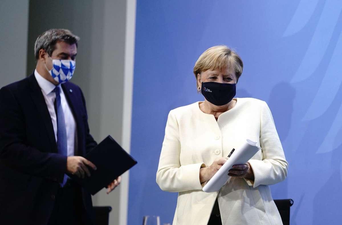 Das Bundeskabinett will das Gesetz bereits am Dienstag beschließen, die eigentliche nächste Woche geplante Bund-Länder-Konferenz entfällt. Foto: dpa/Kay Nietfeld