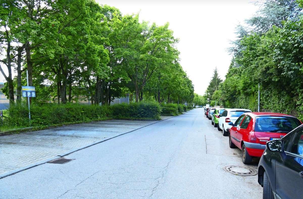 """Viele Nummernschilder ohne """"S"""" vorne stehen an der Egilolfstraße in Birkach. Foto: /Torsten Schöll"""