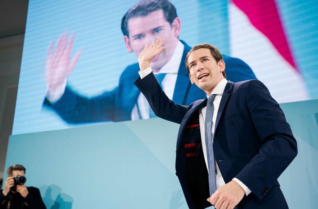 Kurz wurde mit starker Mehrheit wiedergewählt. (Archivbild) Foto: AFP/GEORG HOCHMUTH