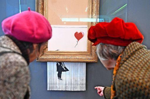Schnappatmung wegen Banksys Schnipsel
