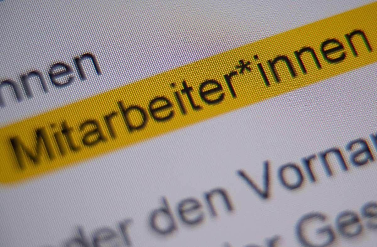 Die Gesellschaft für deutsche Sprache ist gegen das Gendern bei staatlichen Einrichtungen. Foto: dpa/Sebastian Gollnow