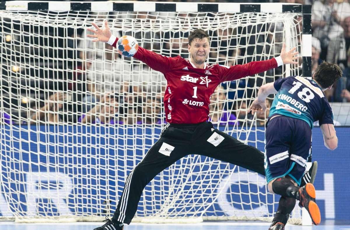 Der dänische Welthandballer Niklas Landin vom THW Kiel besticht mit seiner überragenden Technik. Foto: dpa/Frank Molter