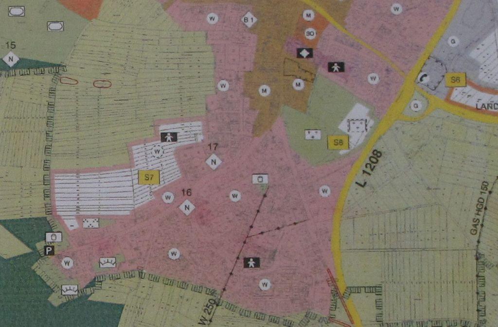 Die weiße Fläche entspricht den Gebiet Gubser II. Foto: Malte Klein