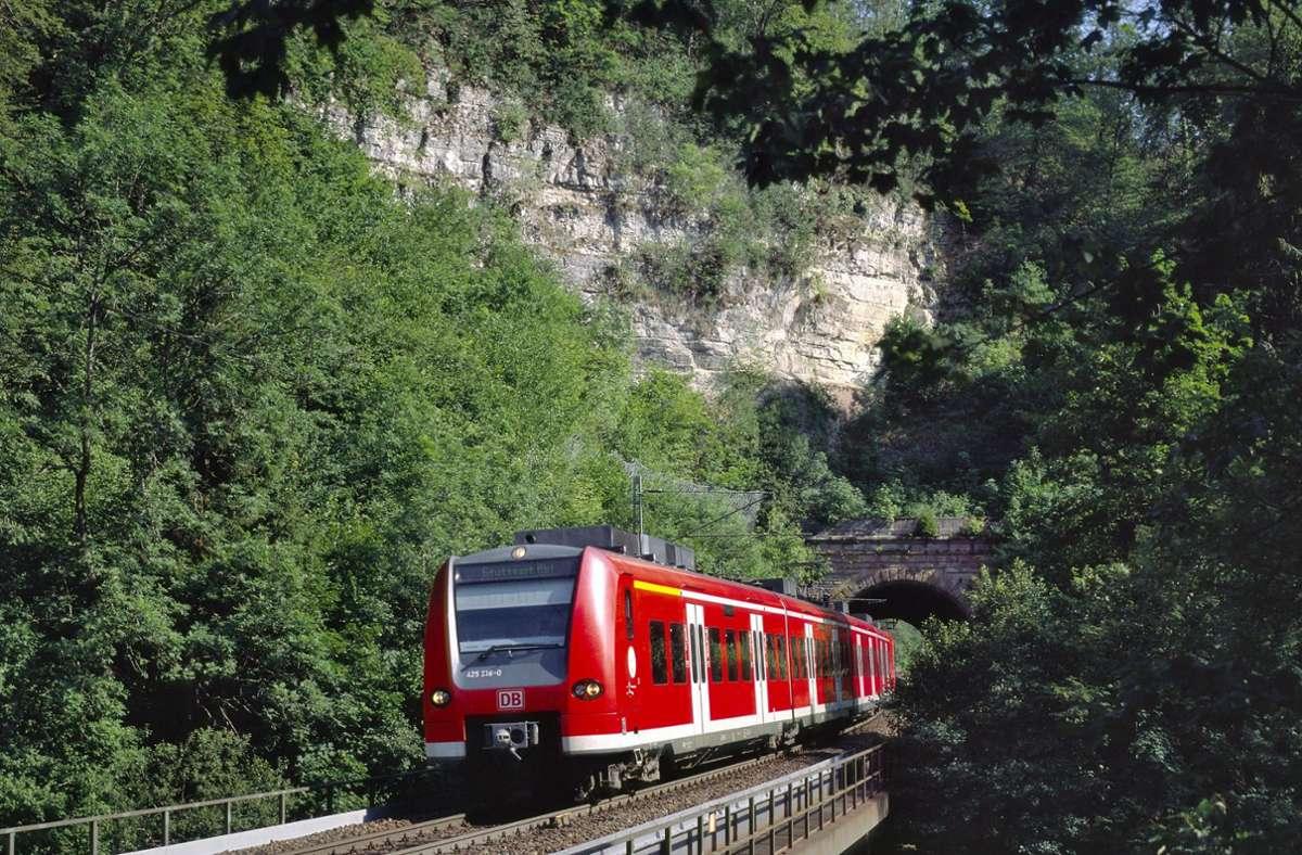 Die Gäubahn schlängelt sich auf ihrem Weg von Stuttgart nach Singen durch eine idyllische Landschaft. Allerdings sind die Züge auf der alten Strecke nicht sonderlich schnell. Foto: DB AG/Georg Wagner