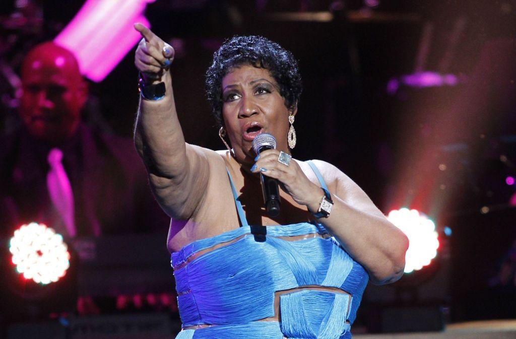 Die verstorbene Aretha Franklin Foto: AP