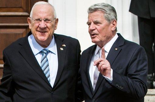 Gauck empfängt Rivlin in Berlin