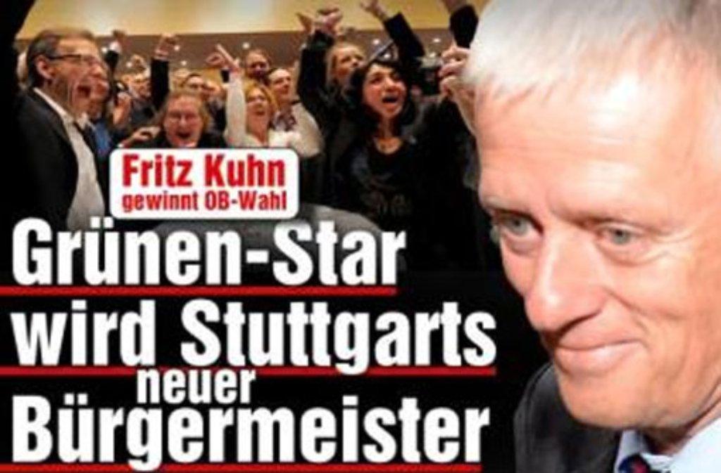 Von Kuhnglaublich bis grüne Gefahr - in unserer Presseschau erfahren Sie, was die anderen Medien zu Kuhns Wahlsieg in Stuttgart sagen. Foto: Screenshot SIR