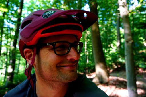 Unser Interviewpartner Michael Och, Schriftführer im Verein Mountainbike Stuttgart, bei seiner liebsten Freizeitbeschäftigung - Radfahren.